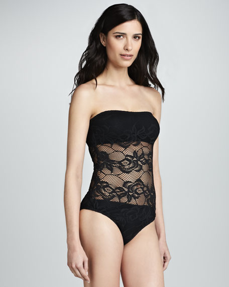Penthouse Sheer-Panel One-Piece