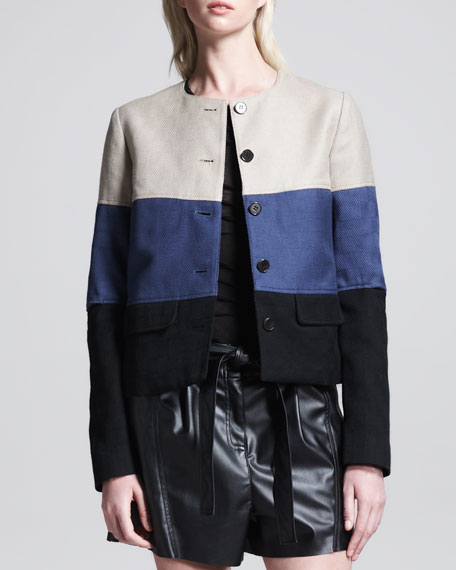 Two-Pocket Colorblock Jacket