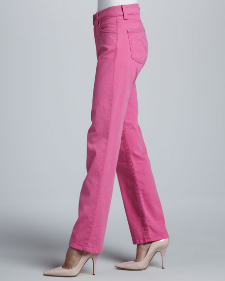 Katie Bright Straight-Leg Control-Panel Jeans