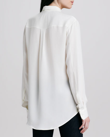 Bryne Silk Button-Down Blouse