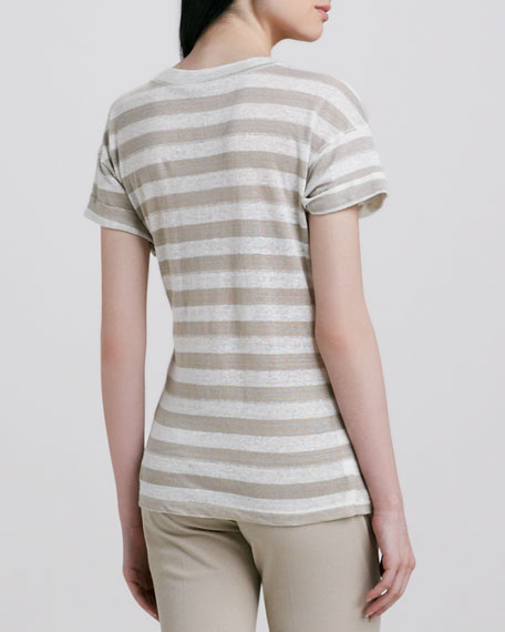 Lisso Striped Slub Top
