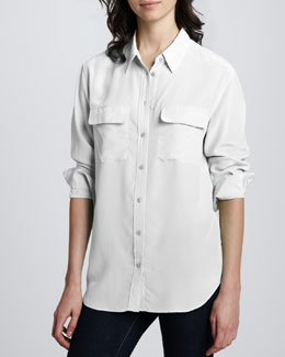 Equipment Signature Button-Down Blouse