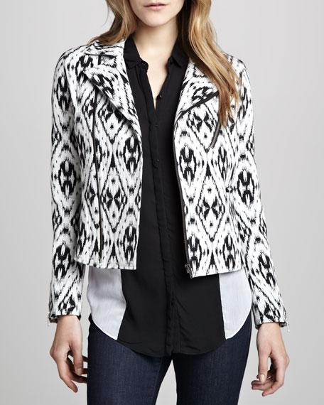 Eva Ikat-Print Jacket