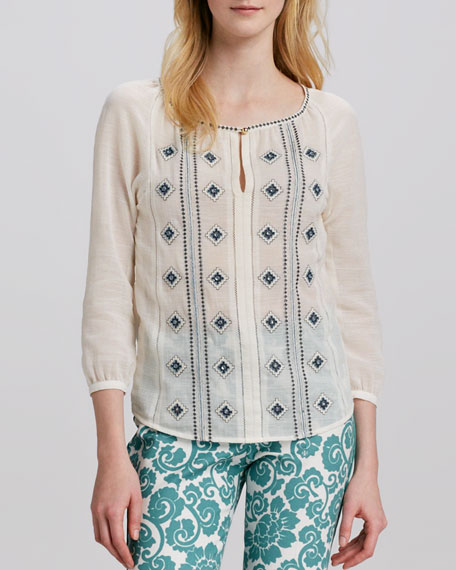 Lucille Embroidered Voile Tunic