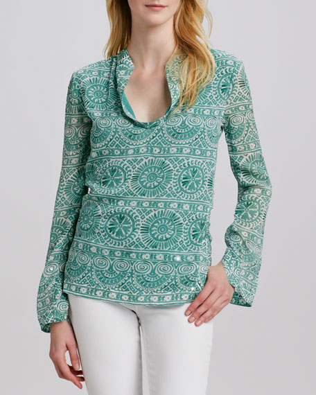 Stephanie Printed Voile Tunic