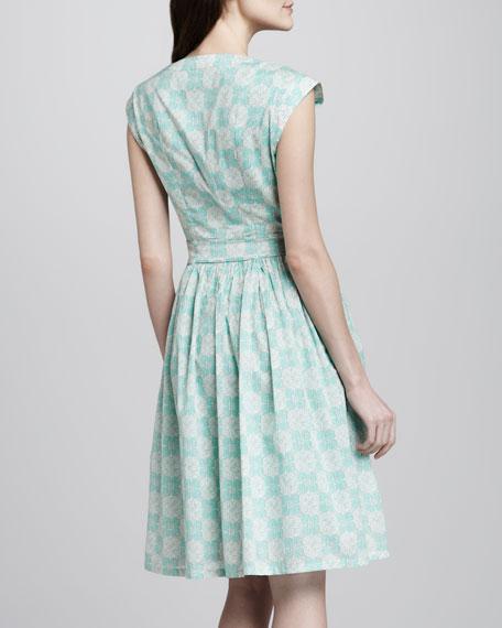 Nico Printed Pintucked Dress