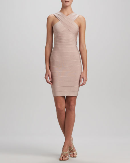 Cross-Front Bandage Dress