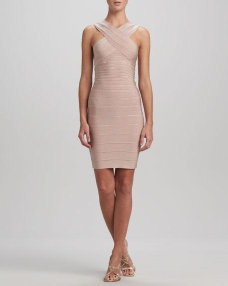 Cross-Front Bandage Dress