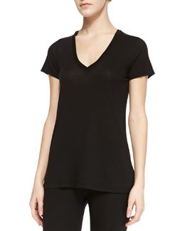 Splendid V-Neck Tee, Black