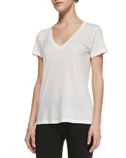 Splendid V-Neck Tee, White