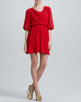 Alice + Olivia Brielle Bell-Sleeve Dress