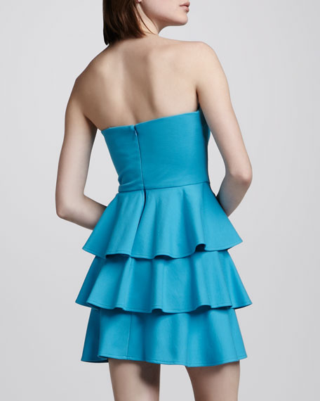Tiered Ruffled Strapless Dress