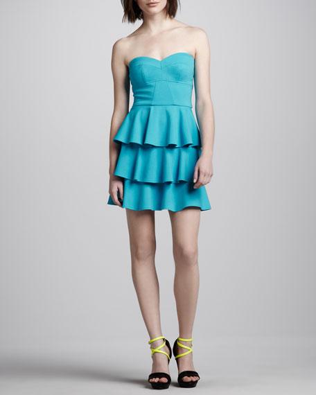 Tiered Ruffled Strapless Dress