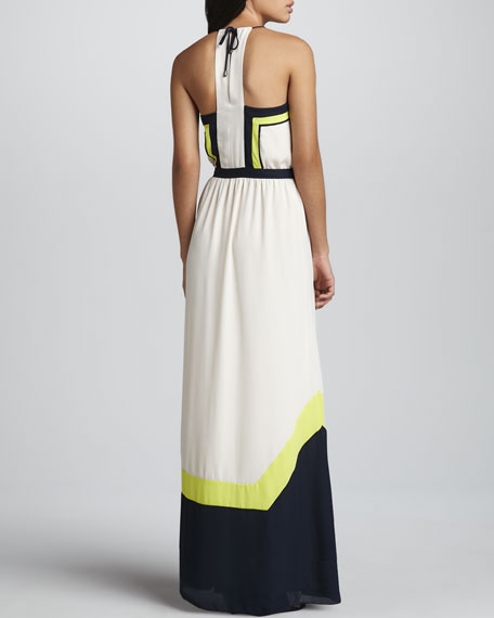 Amanda Tribal Colorblock Maxi Dress