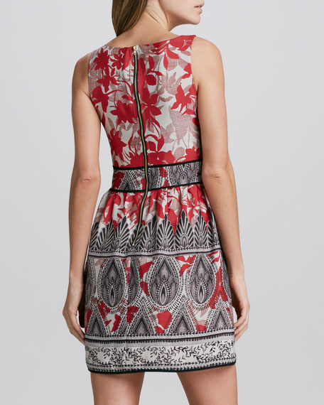 Printed Paneled Dress