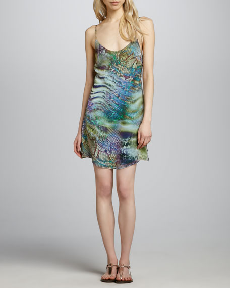 Julia Scale-Print Dress