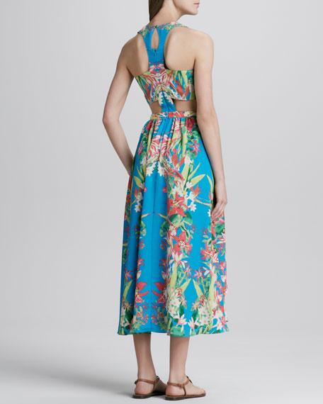 Lovers + Friends Printed Side-Cutout Dress