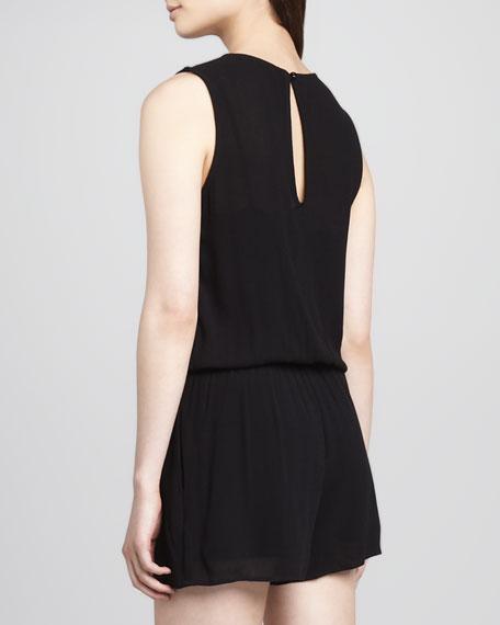 Vineyard Short Jumpsuit, Black