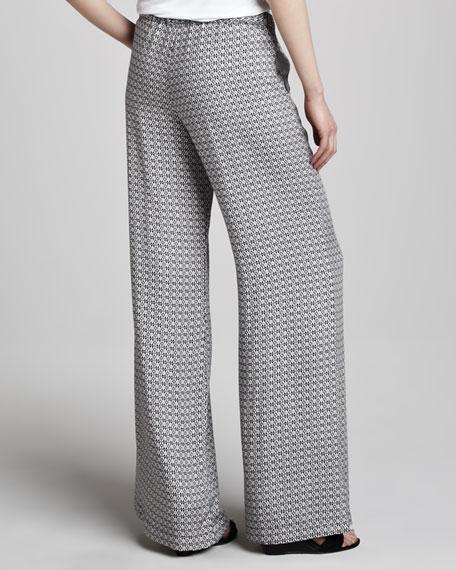 Izabella Printed Wide-Leg Pants