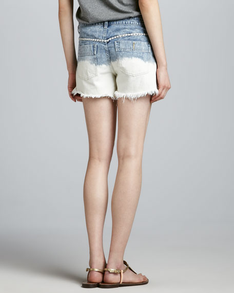 Lowtide Embroidered Cutoff Shorts