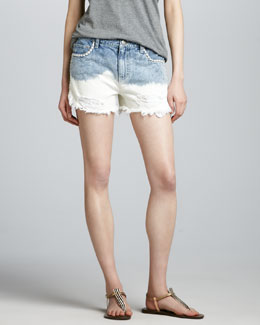 Free People Lowtide Embroidered Cutoff Shorts