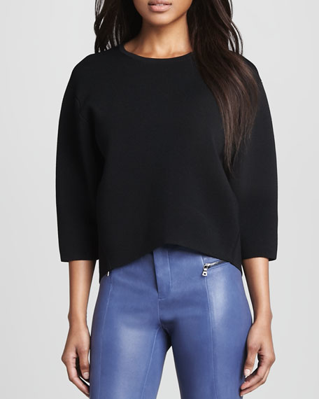 Griffith Cropped Knit Sweater