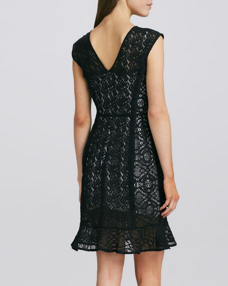La Roca Lace Dress, Black