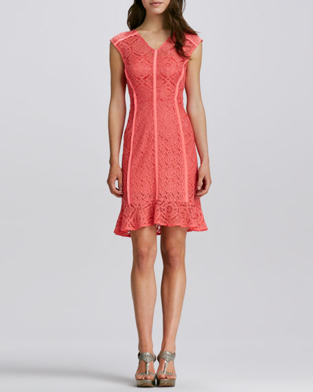 La Roca Lace Dress, Mango