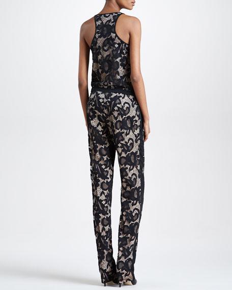 Shany Floral Lace Jumpsuit