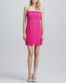 Diane von Furstenberg Walker Strapless  Lace Dress