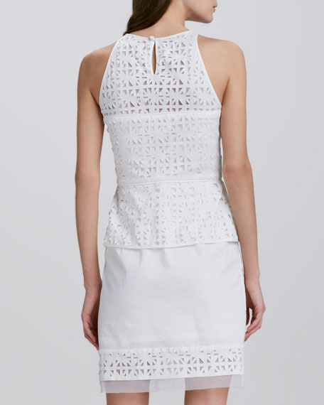 Mia Eyelet Peplum Dress