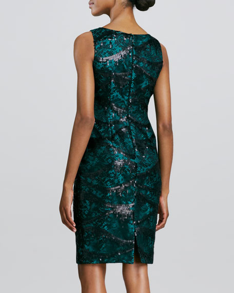 Lace & Sequined Cocktail Dress