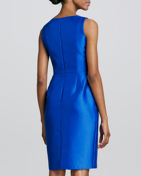 Sleeveless Ruffle-Waist Cocktail Dress