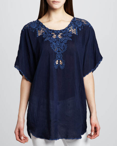 Teila Embroidered Top