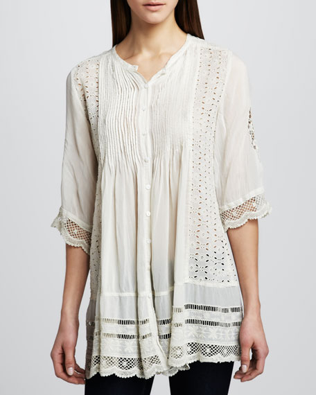 Melody Button-Front Tunic