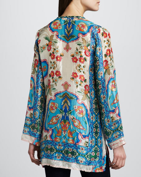Eden Printed Silk Tunic, Women's