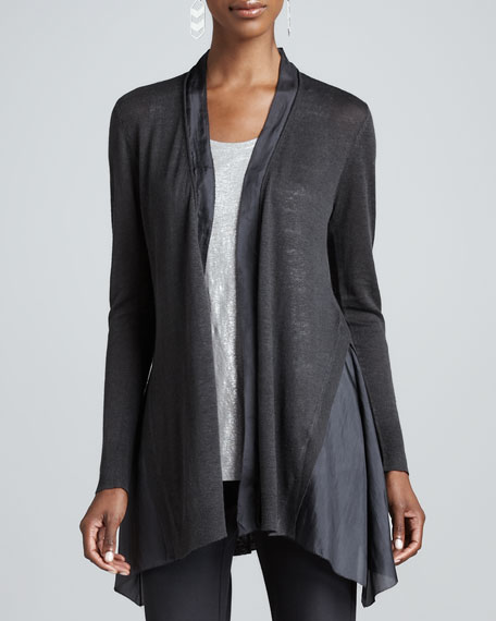 Linen Silk Long Cardigan
