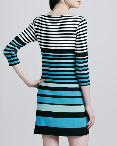 Striped Boat-Neck Dress