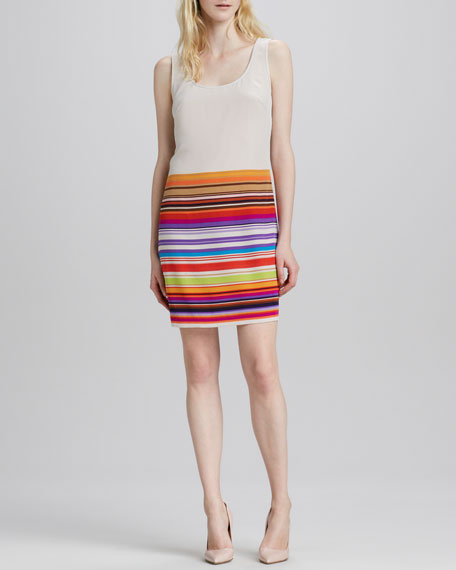 Road Trip Stripe-Skirt Dress