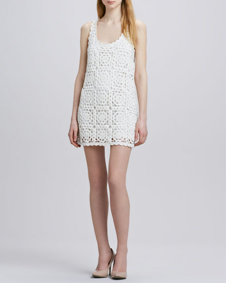 Elida Crochet-Overlay Dress