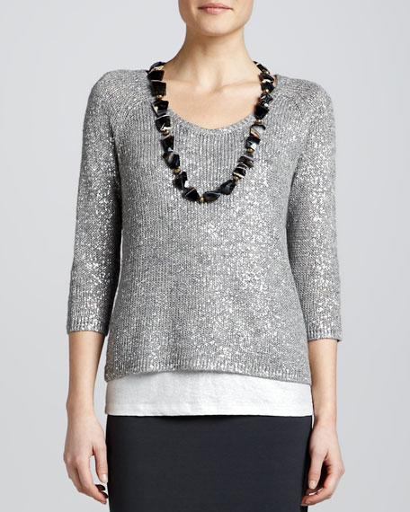 Shimmer Karma Knit Top