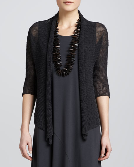 Cropped Dolman-Sleeve Cardigan