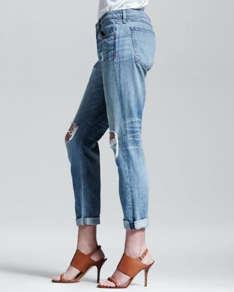 bd972dd9890 rag & bone/JEAN Boyfriend Moss Ripped-Knee Jeans