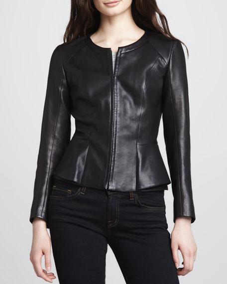 Jondi Fitted Leather Jacket