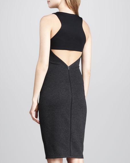 Formfitting Back-Cutout Dress