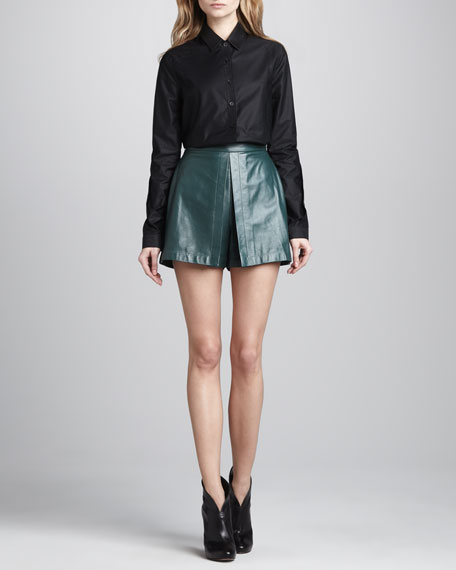 Relaxed Leather Skort