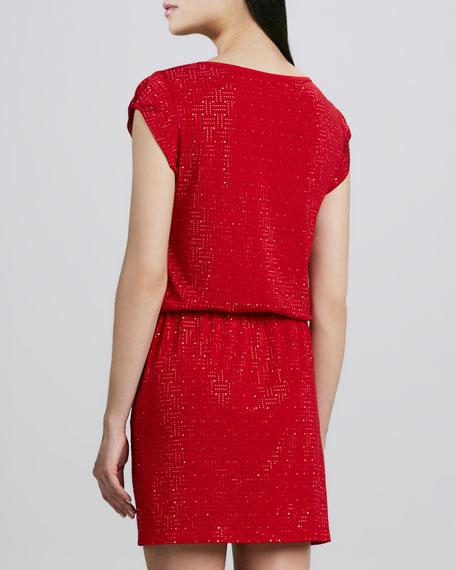 Diamond Drawstring Dress