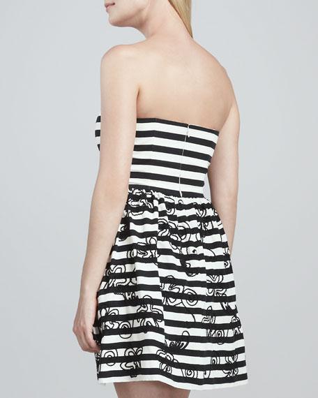 Payton Strapless Striped Dress