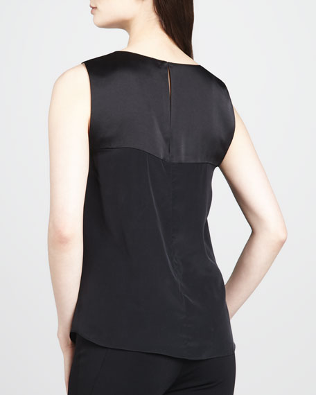 Lana Cutout Charmeuse Top