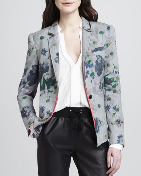 Bourne Floral-Print Blazer